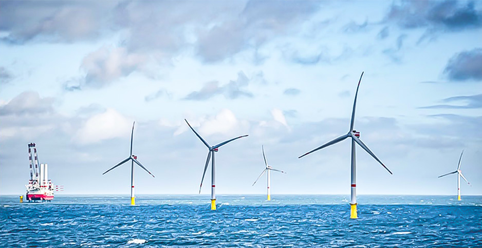 An illustration of the proposed Vineyard Wind offshore project. Photo credit: Vineyard Wind
