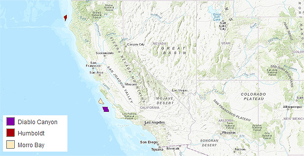 Calif. offshore wind areas. Photo credit: California Offshore Wind Energy Gateway