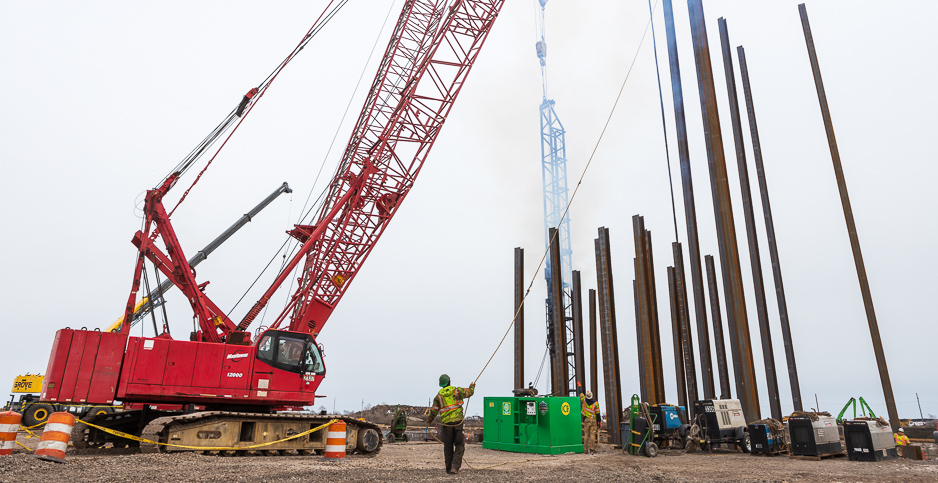 Tradepoint Atlantic construction in Md. Photo credit: Francis Chung/E&E News