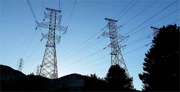 Transmission Lines at Grand Coulee Dam. Photo credit: Varistor60/Wikipedia