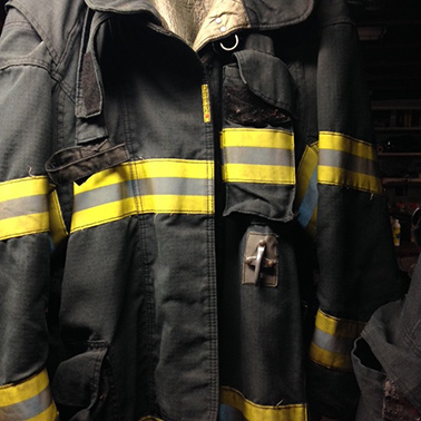 Firefighter turnout gear. Photo credit: Diane Cotter