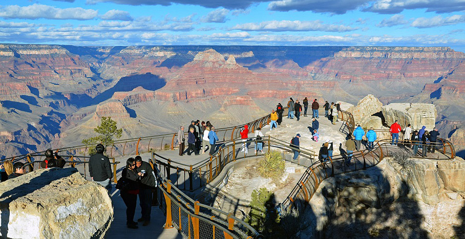 Visitors to Grand Canyon National Park. Photo credit: NPS
