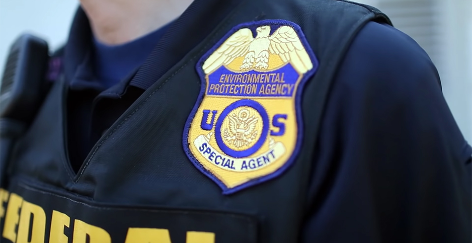 An EPA special agent's uniform and badge. Photo credit: EPA/Youtube