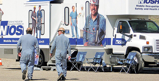 Mobile health screening unit for coal miners. Photo credit: NIOSH