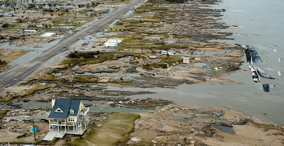 A single house withstood the force of Hurricane Ike. Photo credit: Smiley N. Pool/Rapport Press/Newscom