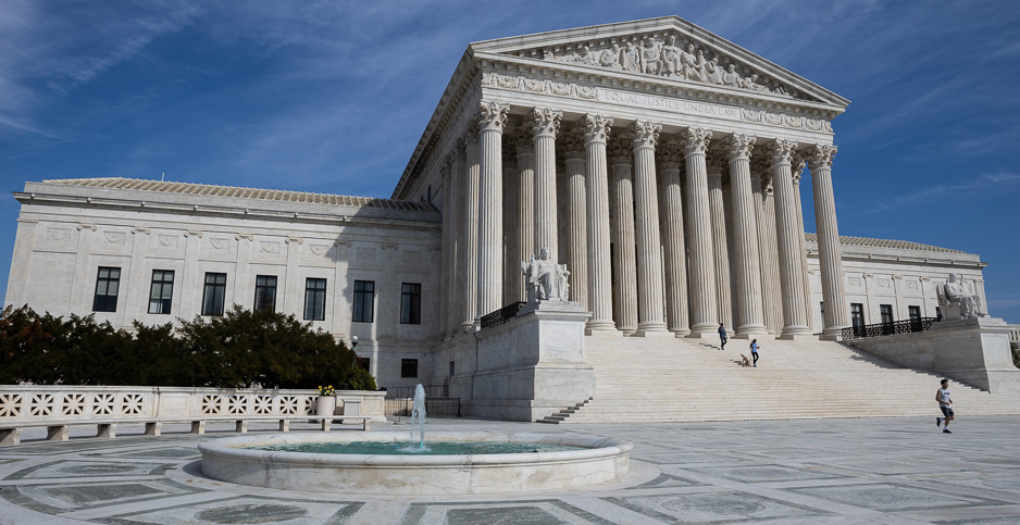 Supreme Court building with fountain in front. Photo credit: Francis Chung/E&E News