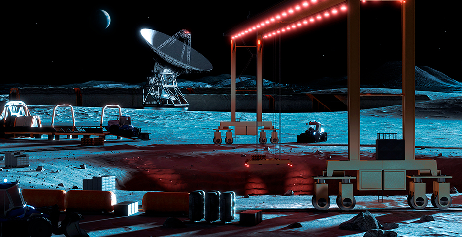 Illustration of a mining operation on the moon. Photo credit: Mark Garlick/Science Photo Library/Newscom
