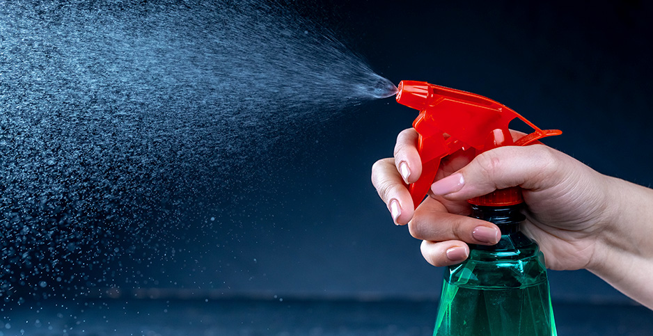 A spray bottle with cleaning agent. Photo credit: Marco Verch/Flickr
