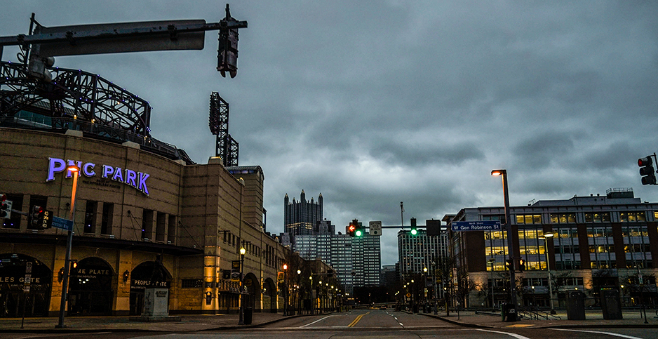 Empty park in Pittsburgh, Pa. Photo credit: Leigh Vogel/Sipa USA/Newscom