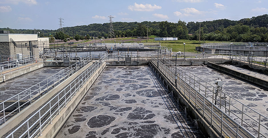 A wastewater treatment facility. Photo credit:  Montgomery County Planning Commission/Flickr