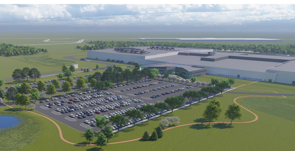 Rendering of General Motors and LG Chem battery cell plant. Photo credit; GM