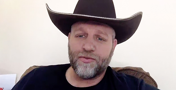 Ammon Bundy screen shot. Photo credit: Ammon Bundy/Facebook