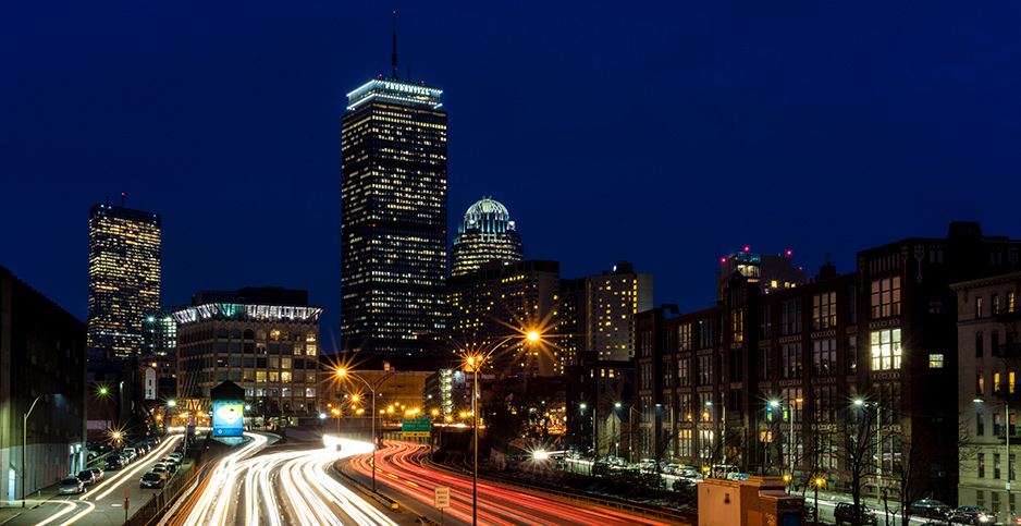 Traffic streams through downtown Boston. Photo credit: Robbie Shade/Flickr