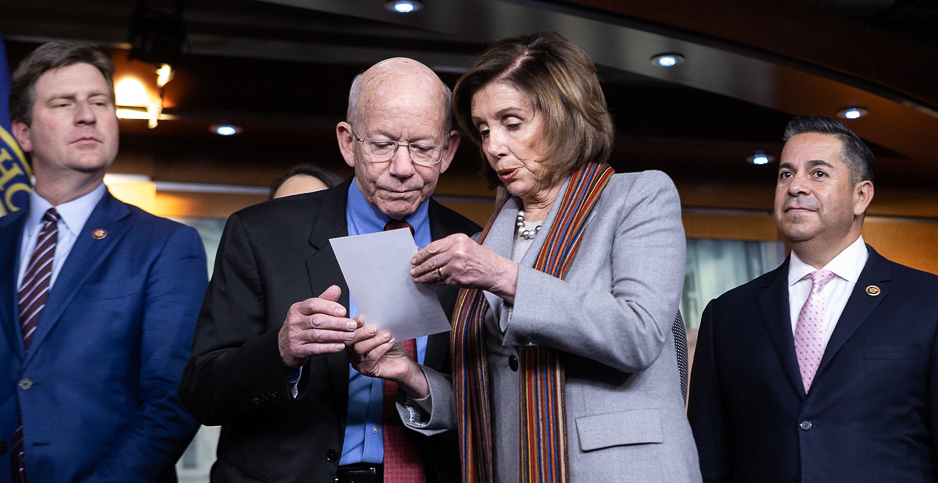 Reps. Nancy Pelosi (D-Calif.) and Peter DeFazio (D-Ore.). Photo credit: Francis Chung/E&E News