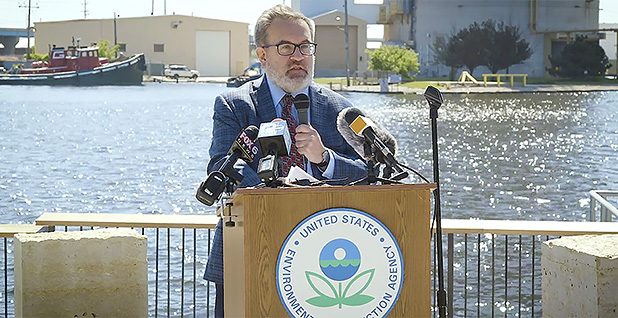 EPA Administrator Andrew Wheeler announcing a grant in Wisconsin. Photo credit: University of Wisconsin- Milwaukee