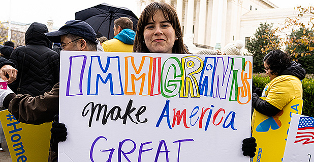 Supporters of the Deferred Action for Childhood Arrivals, or DACA. Photo credit: Jeff Malet Photography/Newscom