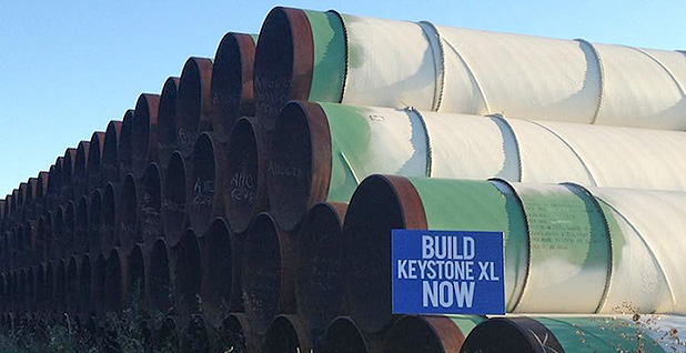 Pipe to be used for KeystoneXL. Photo credit: Sean Hackbarth/U.S. Chamber of Commerce