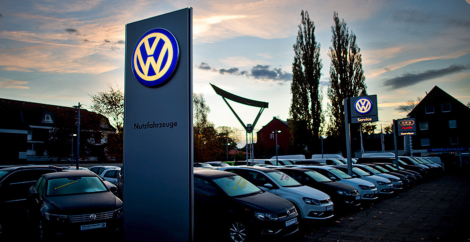 VW dealership in Germany. Photo credit: Julian Stratenschulte/dpa/picture-alliance/Newscom