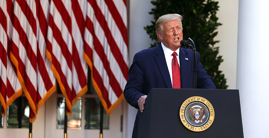 President Trump. Photo credit: Polaris/Newscom