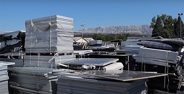 Solar Panels. Photo credit: Veolia Group/YouTube