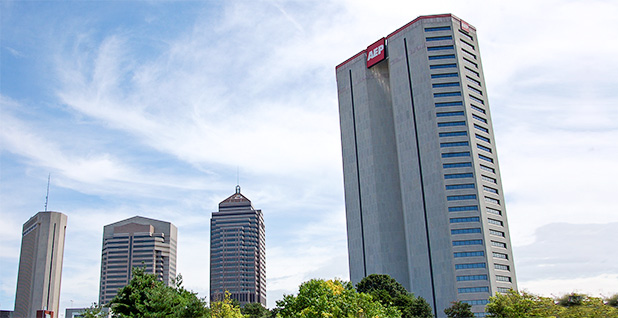 Columbus skyline with AEP Ohio building. Photo credit: Electric cat/Wikimedia Commons