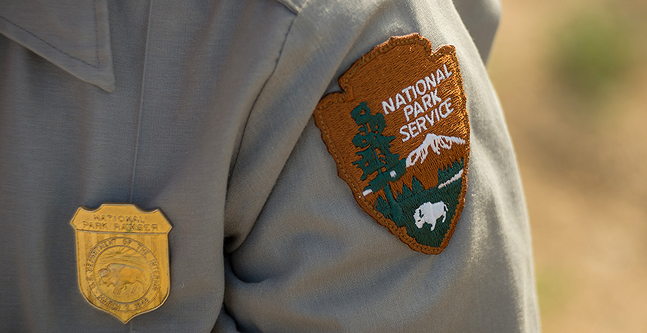 Park ranger badge and patch. Photo credit: Kurt Moses/Joshua Tree National Park/Flickr