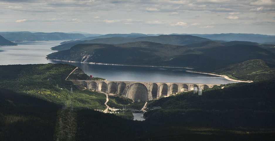 Hydro-Québec's Daniel-Johnson dam in Quebec. Photo credit: Hydro-Quebec