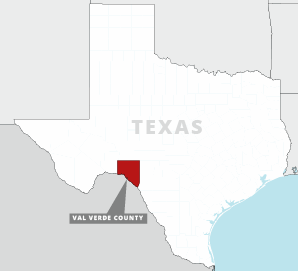 Val Verde county locator map Texas. Credit: Claudine Hellmuth/E&E News