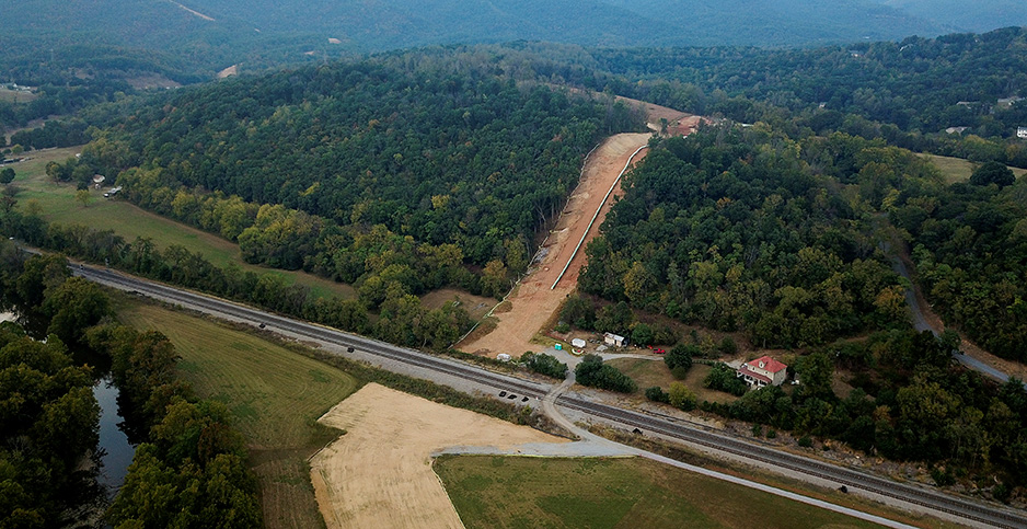 Mountain Valley pipeline construction. Photo credit: Charles Mostoller/Reuters/Newscom