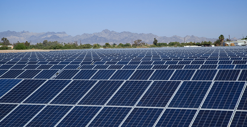 Calif. solar panels. Photo credit: Timothy Hearsum/Newscom