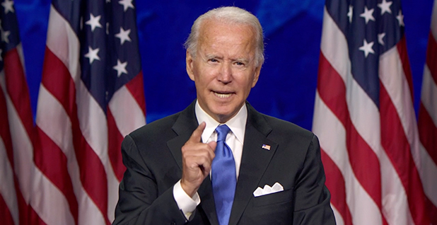 Joe Biden. Photo credit: Democratic National Convention via CNP/SplashNews/Newscom