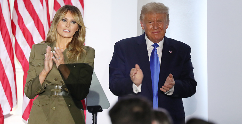 President Trump and Melania Trump. Photo credit: SplashNews/Newscom