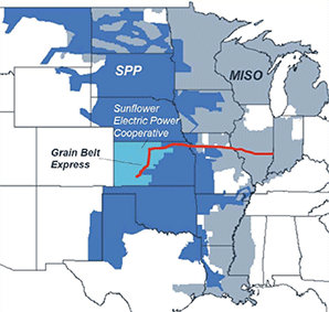 Grain Belt Express line. Credit: PA Consulting
