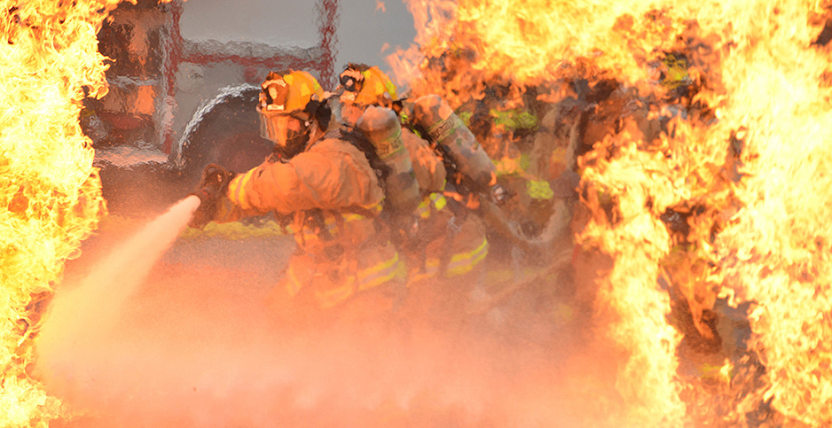 Air Force firefighter training exercise. Photo credit: Staff Sgt. Noel Velez/Air National Guard/Flickr