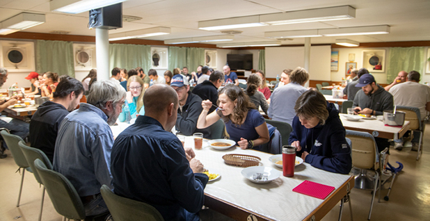 Inside the mess hall. Photo credit: Chelsea Harvey/E&E News