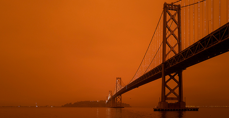 Smoke over the San Francisco Bay. Photo credit: Christopher Michel/Flickr