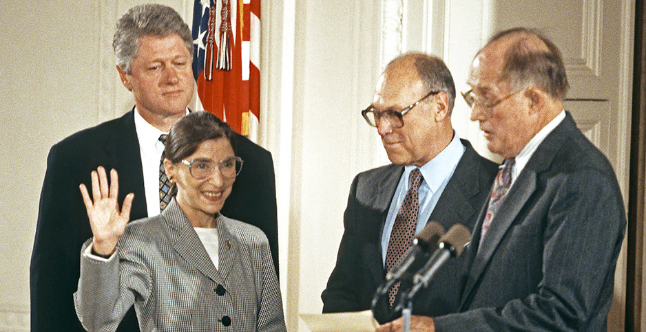 Bill Clinton, Ruth Bader Ginsburg, Martin Ginsburg, Bill Rehnquist Photo credit: Arnie Sachs/ZUMA Press/Newscom