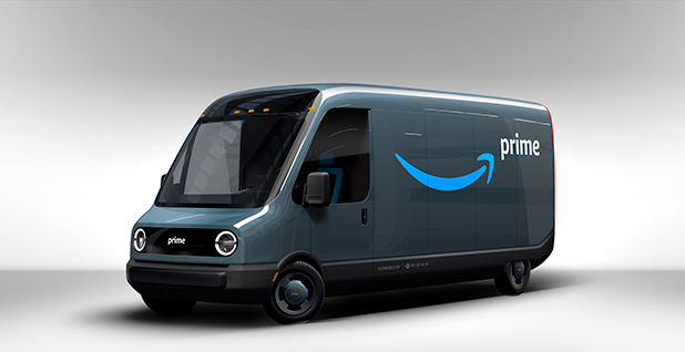Amazon electric trucks coronavirus. Photo credit: Amazon/Cover Images/Newscom