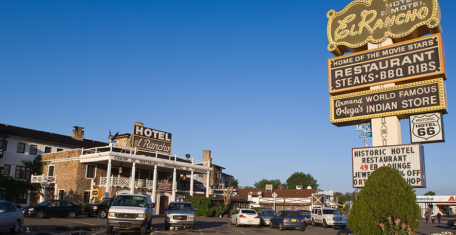 Historic El Rancho Hotel along Route 66 Gallup, New Mexico. Photo credit: Michael DeFreitas Danita Delimont Photography/Newscom