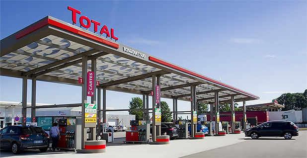 Total gas station. Photo credit: @Total/Twitter