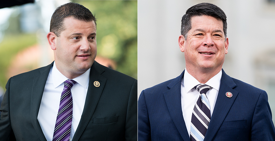 Rep. TJ Cox (D-Calif.) and David Valadao. Photo credit: Bill Clark/CQ Roll Call/Newscom