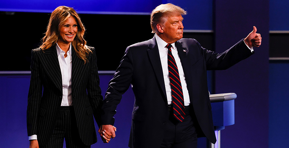 President Donald Trump and first lady Melania Trump. Photo credit: Brian Snyder/Reuters/Newscom
