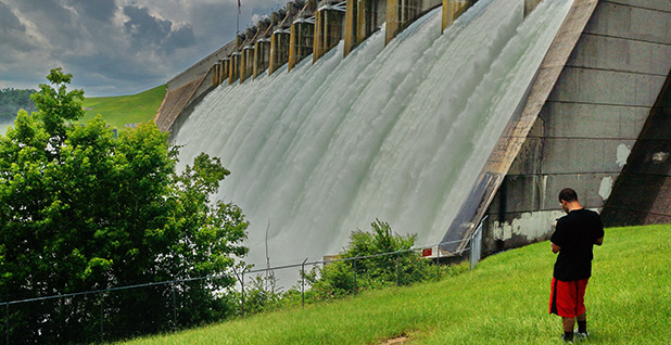 Hartwell dam. Photo credit: Army Corps of Engineers/Flickr