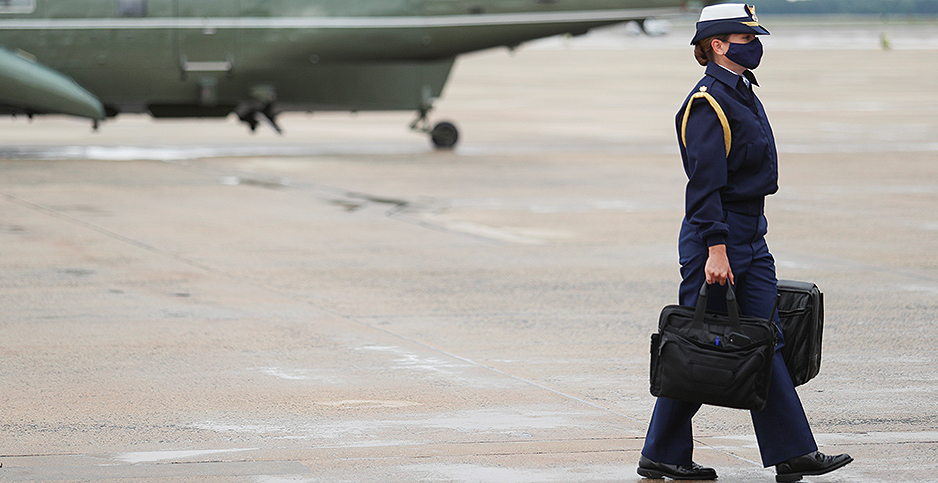 Nuclear football. Photo credit: Tom Brenner/Reuters/Newscom