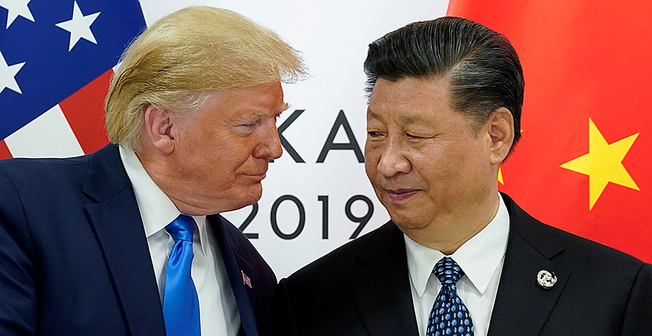U.S. President Donald Trump greets China's President Xi Jinping in this 2019 file photo. Photo credit: Kevin Lamarque/REUTERS/Newscom
