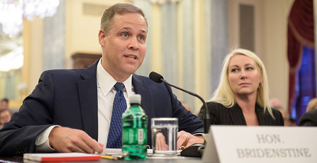 Jim Bridenstine is seen testifying in Congress before he was named NASA administrator. Photo credit: Joel Kowsky/NASA