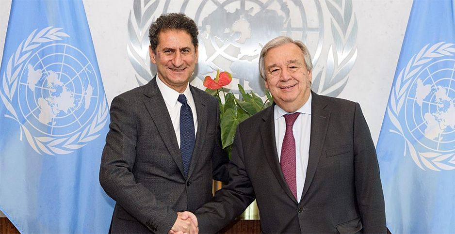 Francesco La Camera (left), António Guterres. Photo credit: International Renewable Energy Agency