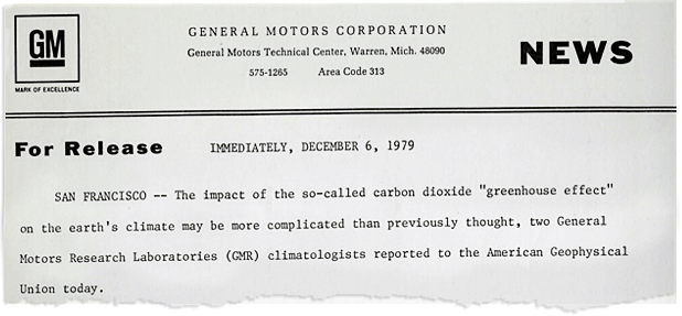 1979 GM press release. Photo credit: General Motors Heritage Center