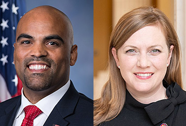 Reps. Colin Allred (D-Texas) and Lizzie Fletcher (D-Texas). Photo credit: U.S. House/Wikipedia