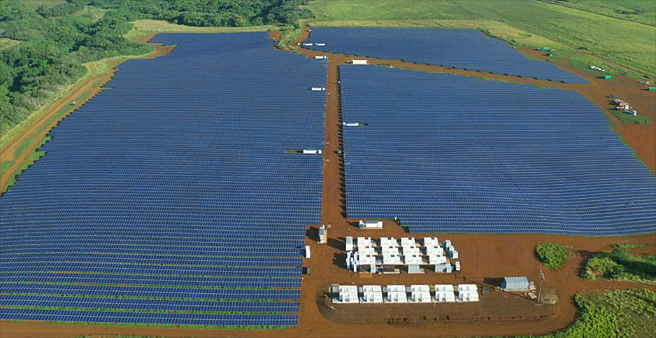 Tesla Inc. solar and battery storage project in Hawaii. Photo credit: Helix Electric